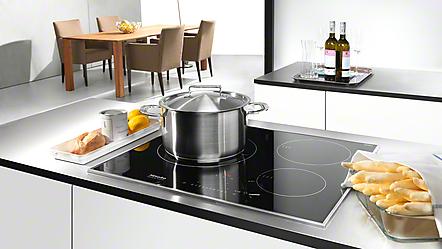 Miele placas vitrocer micas electrodom sticos miele for Cocina induccion con horno