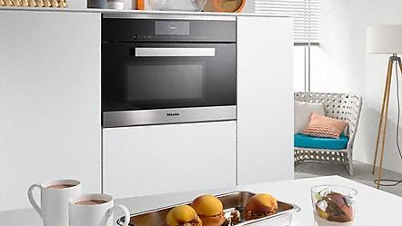 Miele horno a vapor con microondas para la cocina r pida - Horno microondas pequeno ...