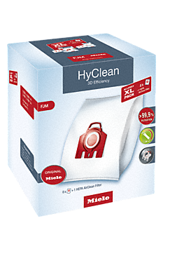 FJM Allergy XL HyClean 3D - Pack XL Allergy HyClean 3D Efficiency FJM 8 bolsas recogepolvo y 1 filtro AirClean HEPA a un precio muy interesante--NO_COLOR